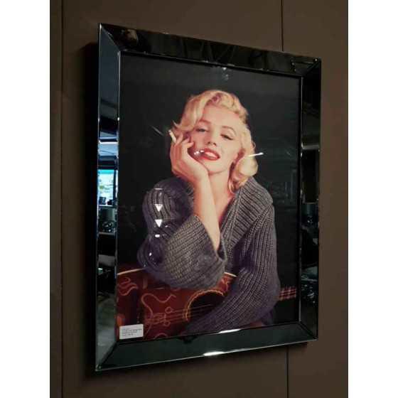 Fotolijst met Spielrand 80x60cm Antraciet | Marilyn Monroe
