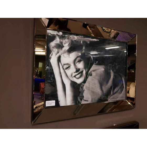 Fotolijst met Spiegelrand 80x60cm Brons-Sepia | Marilyn Monroe
