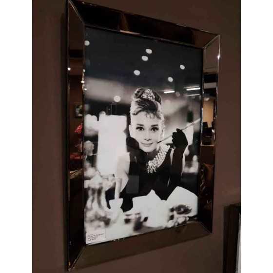 Fotolijst met Spiegelrand 50x70cm Brons-Sepia | Audrey Hepburn