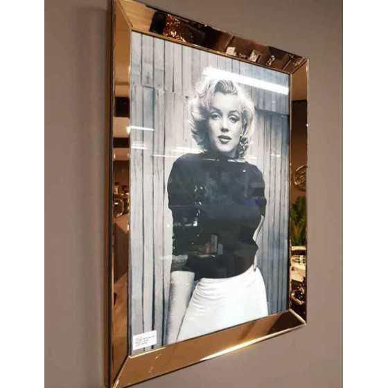 Fotolijst met Spiegelrand 80x60cm Brons | Marilyn Monroe