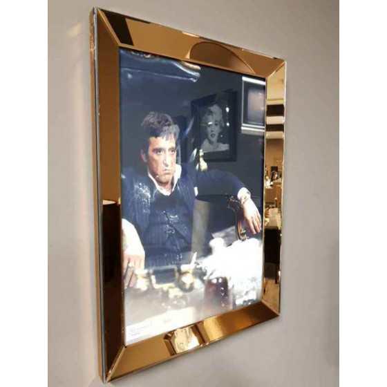 Fotolijst met Spiegelrand 50x70cm Brons   Tony Montana Chair