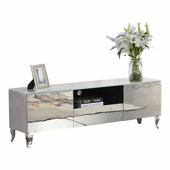 Prachtig Tv Meubel.Tv Meubel Spiegel Brons Of Zilver 160cm Kopen Luxury Living Store