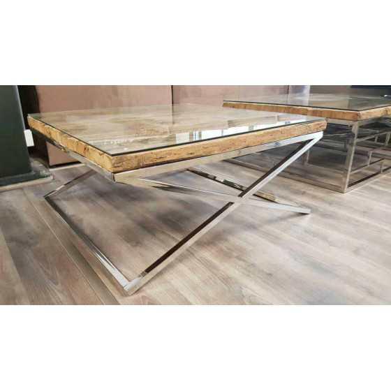 Railway wagonhout Salontafel 100x100