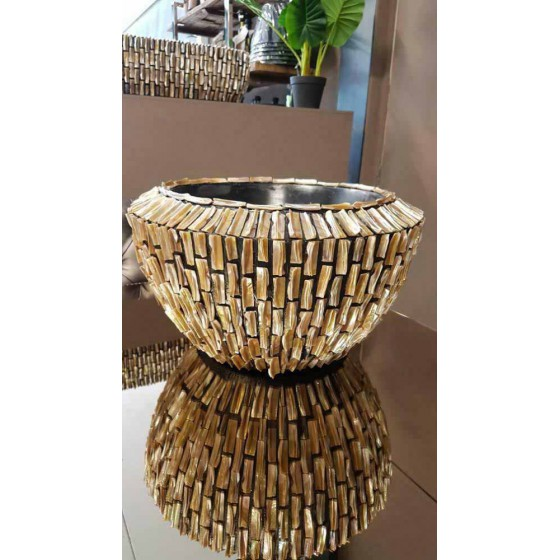 Schelpenvaas Rough Shell Bowl hoog 45x45x28