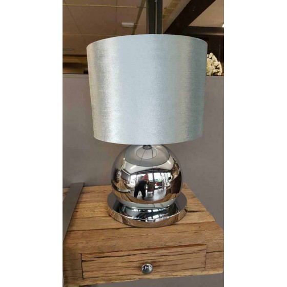 Bollenlamp 1 bol Zilver 50cm