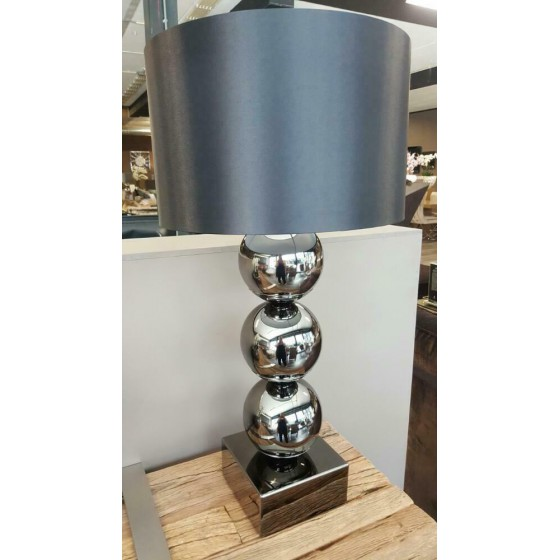 Bollenlamp 3 bol XL inclusief kap Antraciet 78cm