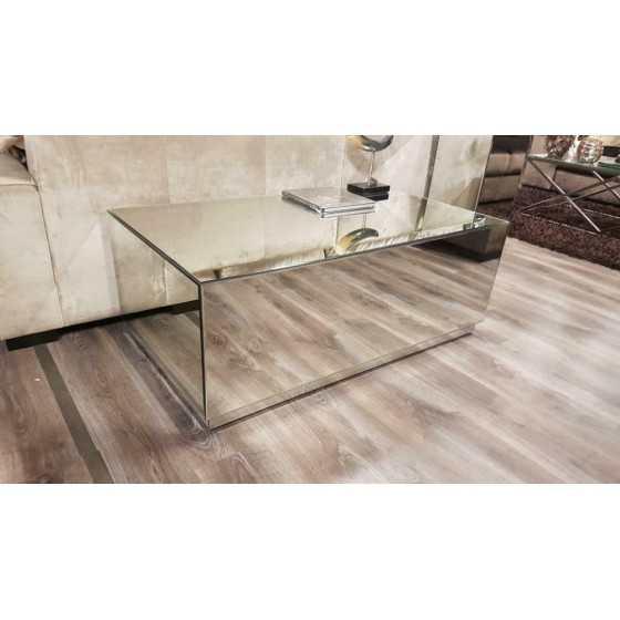 Spiegel salontafel zilver 120x70cm