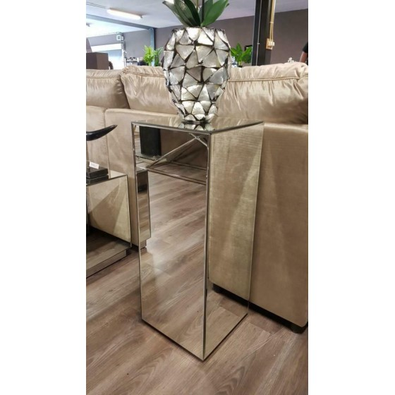 Spiegel pilaar zilver 70x30x30