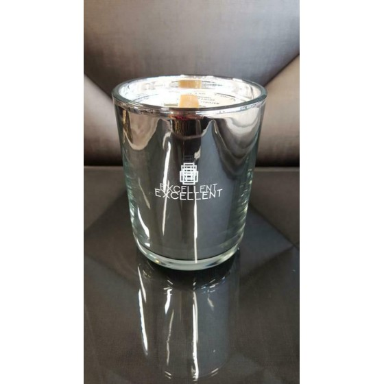 Geurkaars zilver Cotton Candy XL 14cm