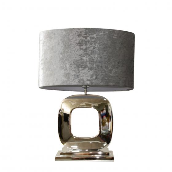 Tafellamp Dubai zilver 50cm