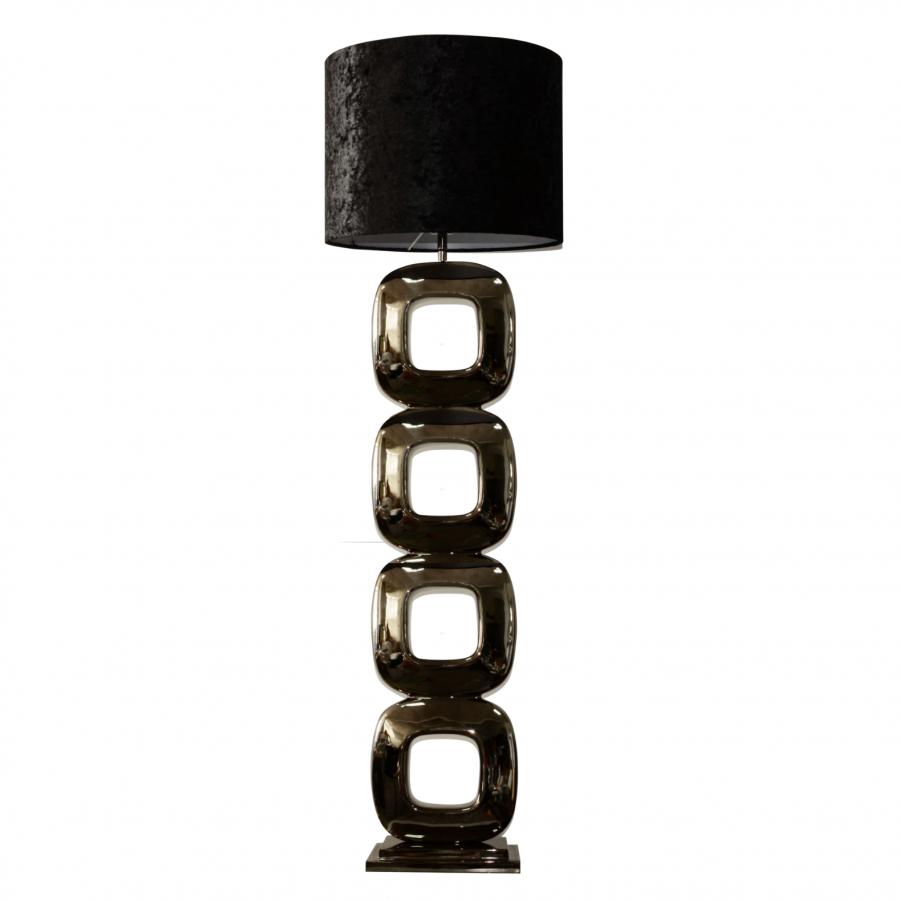 Vloerlamp Dubai zwart 155cm