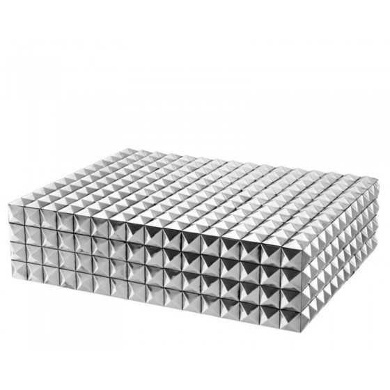 Eichholtz doos zilver Vivienne 42x32x11