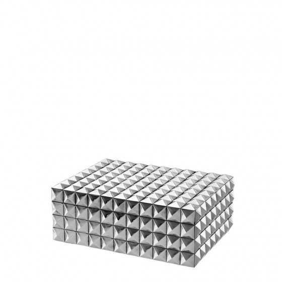 Eichholtz doos zilver Vivienne 29,5x22x12cm
