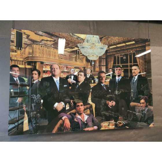 """Plexiglas Schilderij """"Maffia meet at the bar II"""" 150x200cm"""