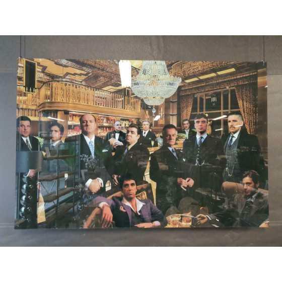 """Plexiglas Schilderij """"Maffia meet at the bar II"""" 150x100cm"""