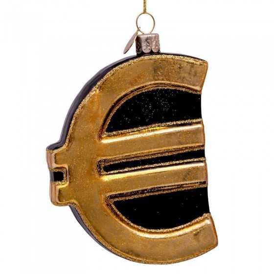Vondels kerstbal euro sign...