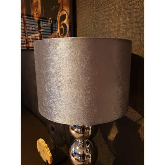 Bollenlamp 3 bol zilver met vierkante voet 68 cm