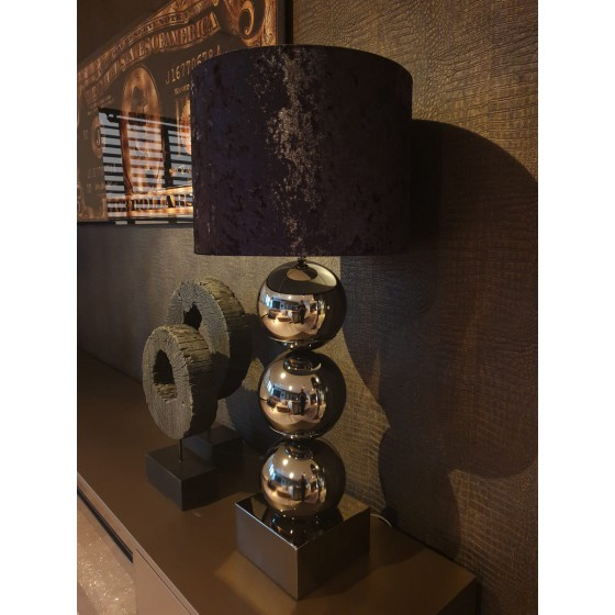BOLLENLAMP ANTRACIET 3 BOL XL INCLUSIEF KAP 93 CM