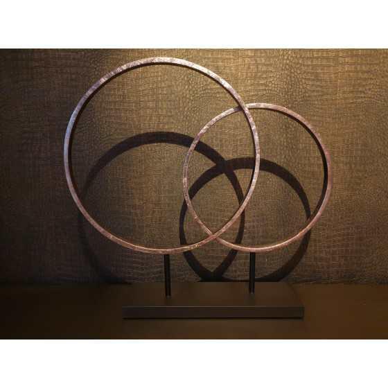 Sculptuur Circles Brons 83x45 cm