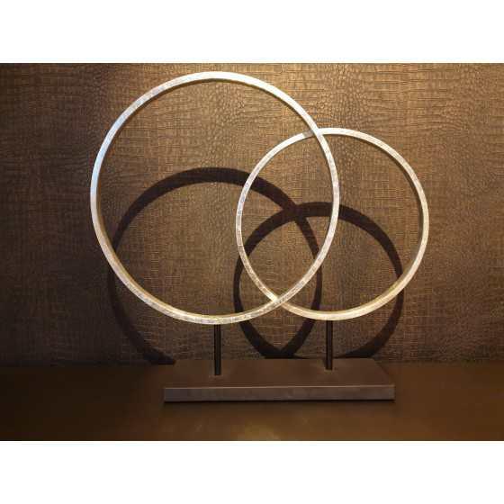 Sculptuur Circles Zilver 83x45 cm