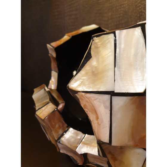 Schelpenvaas cutted Bowl Rose XXL 38x45 cm