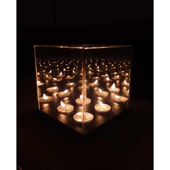 Infinity Waxinehouder 4-Licht 15x15x15