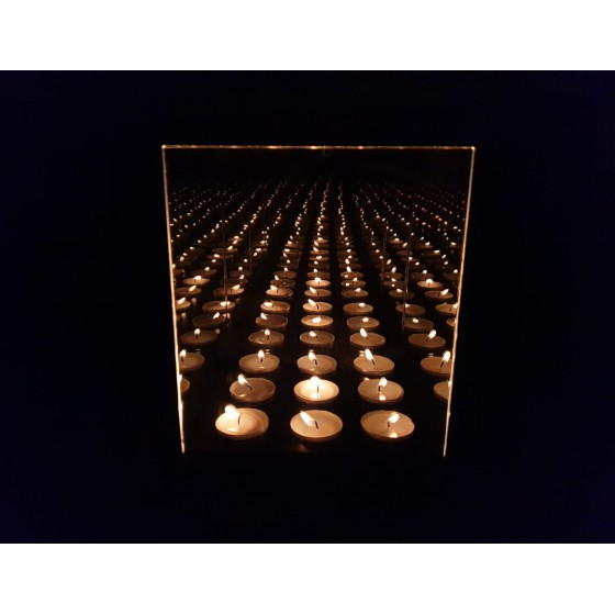 Infinity Waxinehouder 9-Licht 18x18x21
