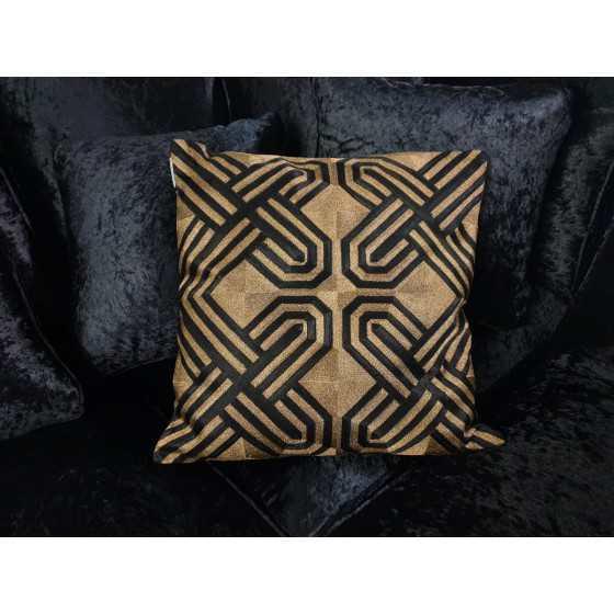 Kussen zwart goud diga colmore 50x50 cm