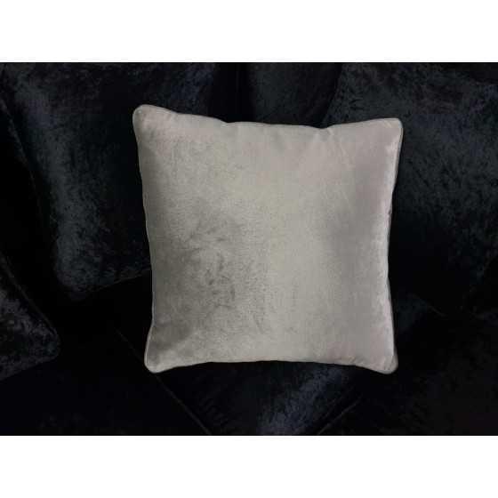 Kussen fluweel zilver grijs 40x40cm