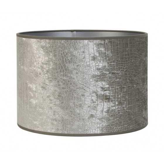 Lampenkap croco zilver 35-35-30 Diga Colmore