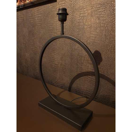 Ringlamp mat zwart 55x40 cm