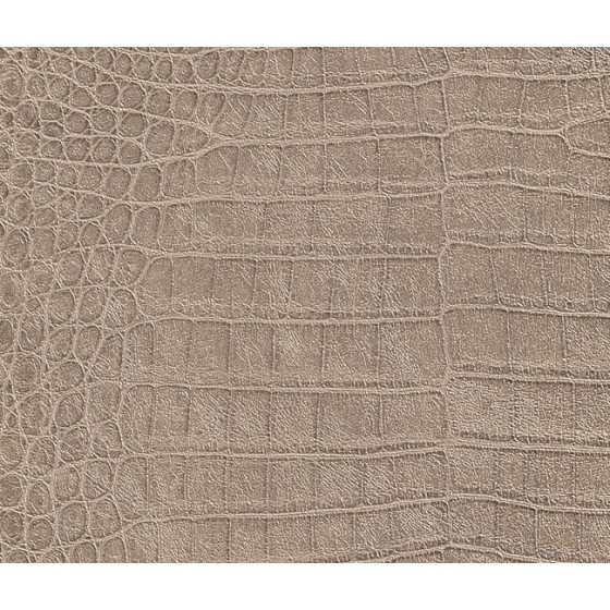 Vliesbehang Krokodil print beige 474138