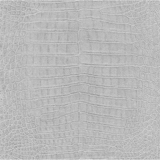 Vliesbehang Krokodil print grijs 474145