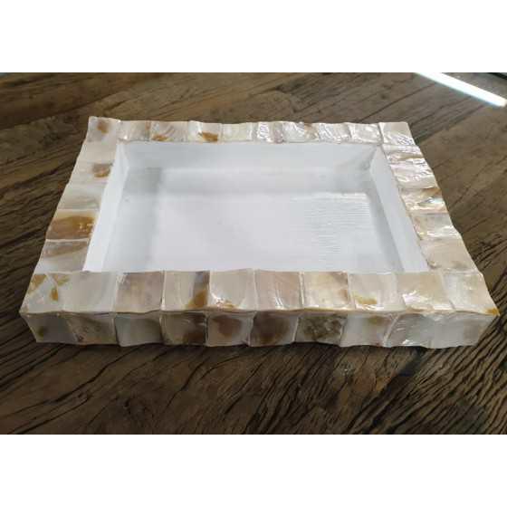 Schelpen dienblad rechthoekig 30x40