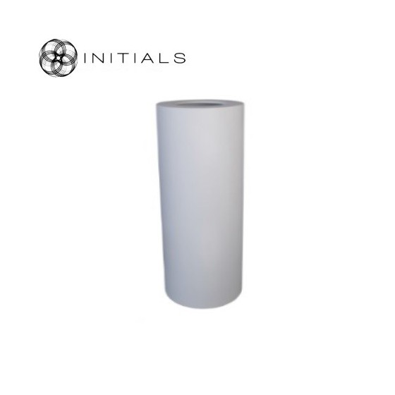 Luxe windlicht op pilaar wit 27.5x60 cm