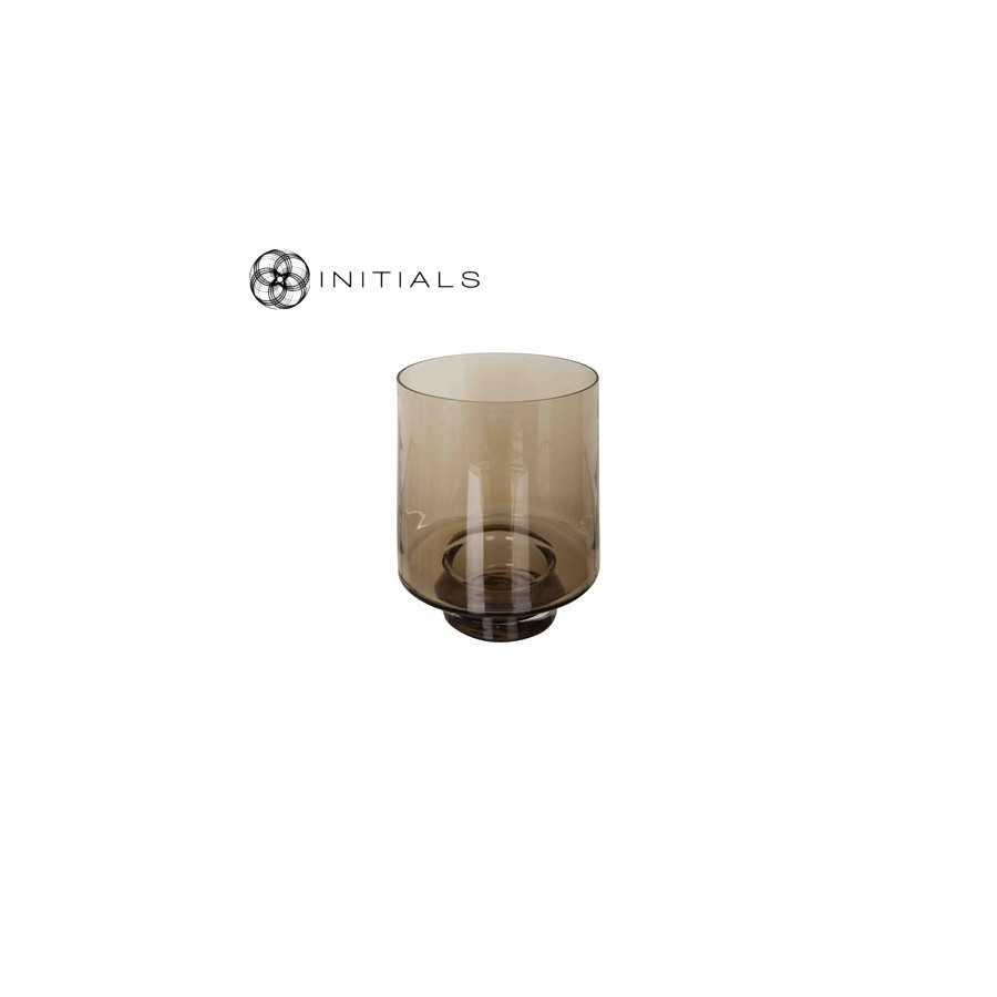Kaarsenhouder rond glas Topaz t.b.v. windlichten op pilaar