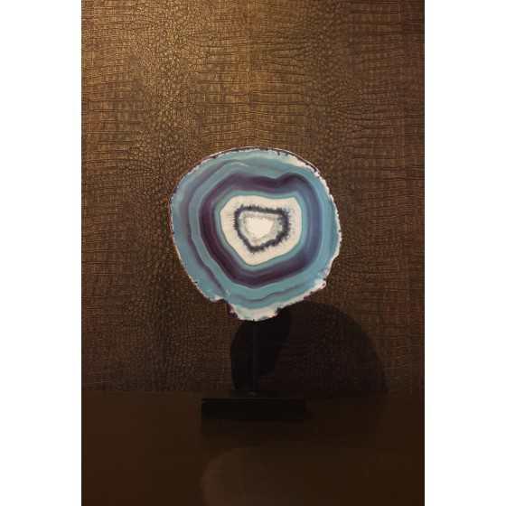 Imitatie Agaat blauw op statief 35cm UITVERKOCHT