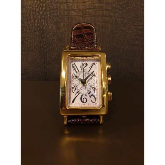 Eichholtz Horloge Klok Goud Croco Bruine Band