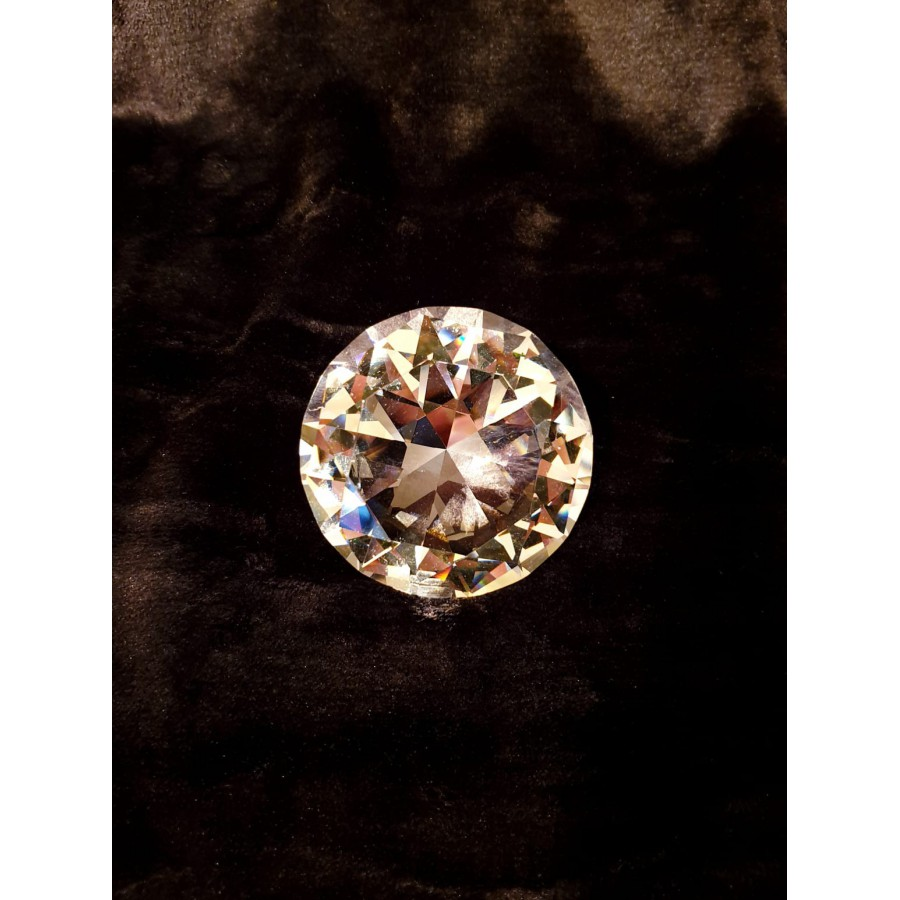 Grote Glazen Diamant Geslepen 8cm