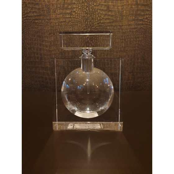 Kristal Parfum fles rechthoekig 16cm