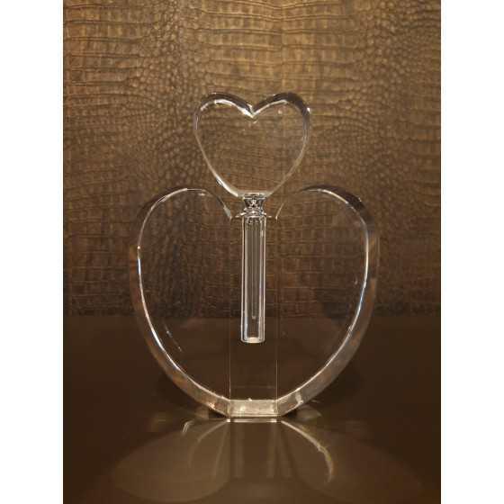 Kristal Parfum fles hartvorming 18cm
