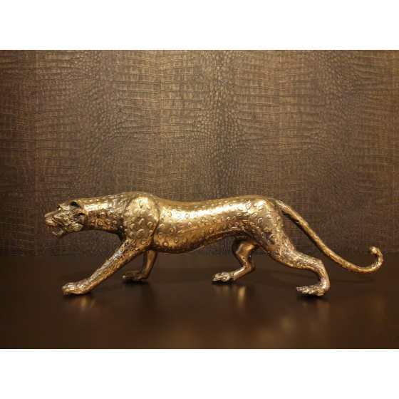 Gouden Jaguar beeld massief 45 cm
