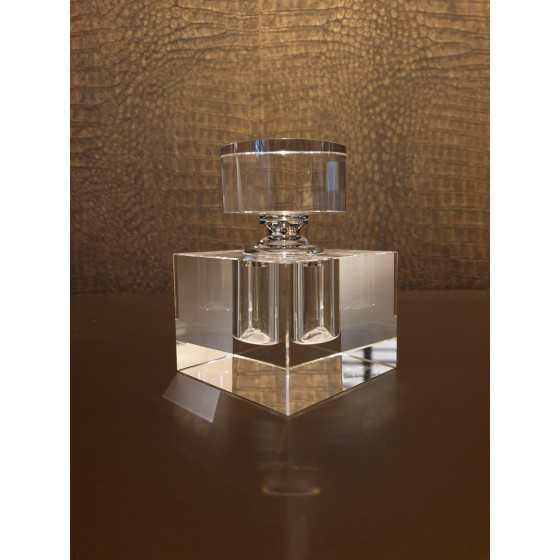 Kristal Parfum fles rechthoekig 12cm