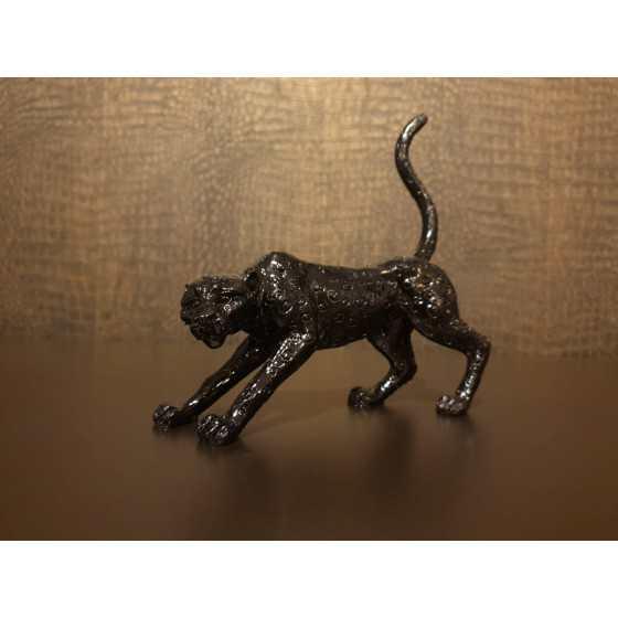 Luipaard zwart 18x16cm