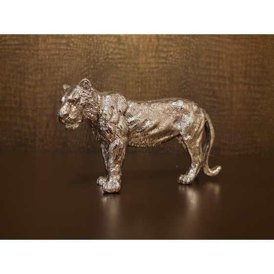 Tijger zilver 20x10cm