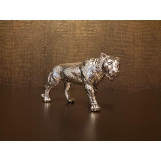Tijger zilver 16x7cm