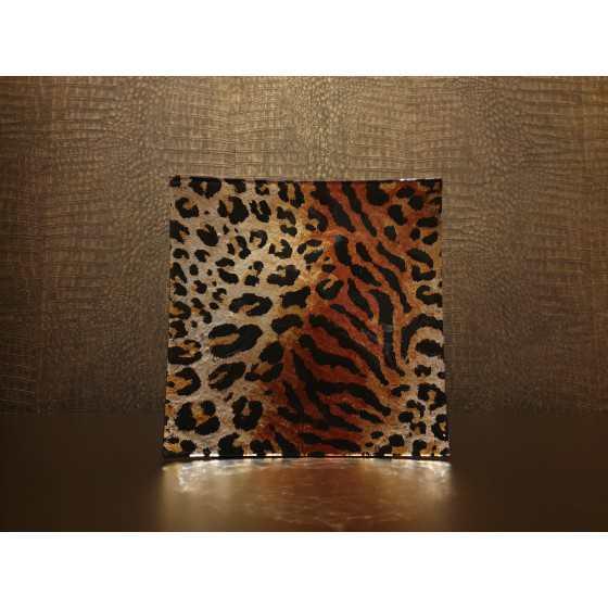 Plateau Leopard 23x23cm