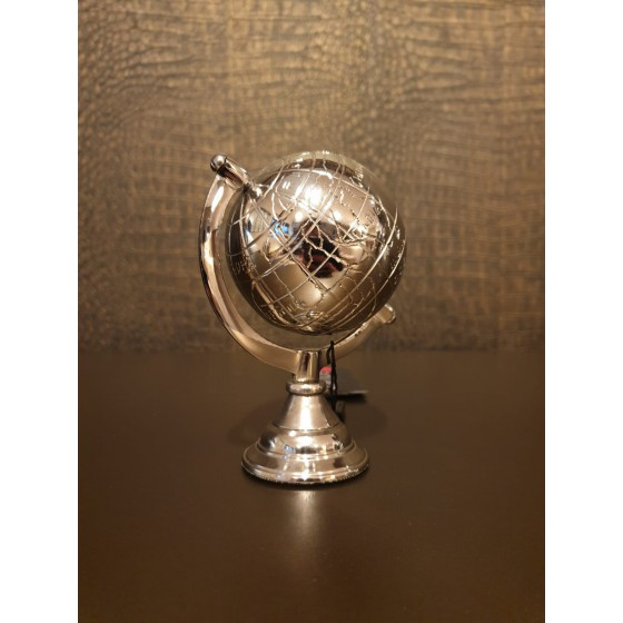 Wereldbol zilver 11cm