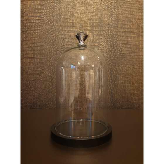 Glazen stolp met diamant 20cm