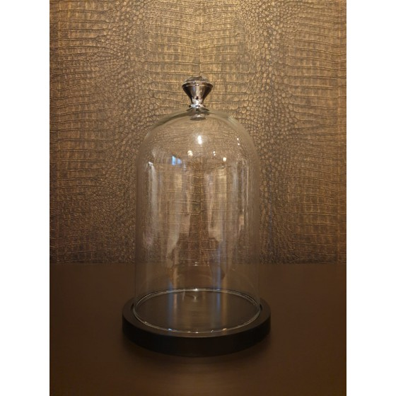 Glazen stolp met diamant 25cm